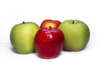 propiedades de la manzana verde y roja