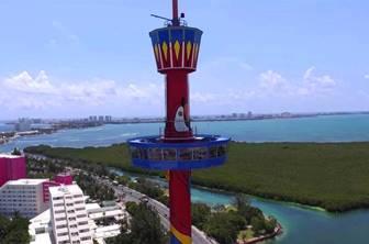 La-torre escénica en Cancún