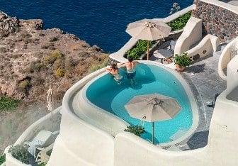 luna de miel en Santorini Grecia